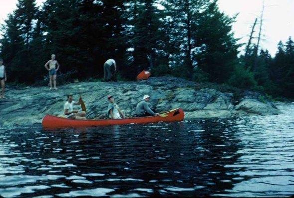 Rocky canoe trip campsite
