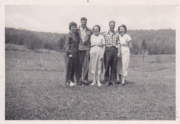 Crewsons - Marion, Bill Jr, Jessie, Jack, Sadie (Bruce's wife)