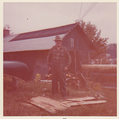 Hughie McCeachern (Jessie's brother, paddle & canoe maker) 1962