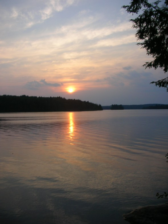 The photo - Sunset on Big Trout Lake