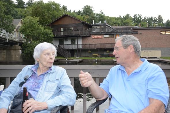 Jane Wardwell Roberts and John Conkling, the earliest camper among all alumni 1944-49