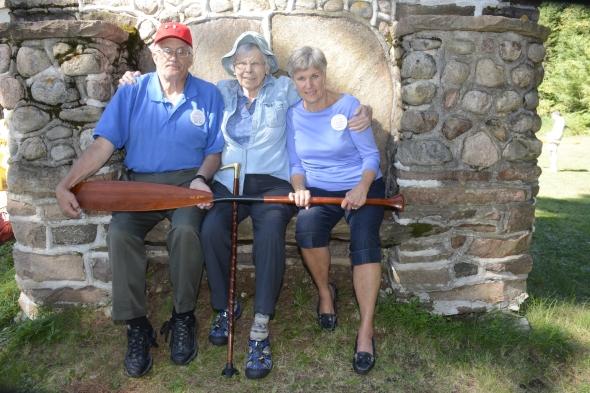 John Young, Jane Wardwell Roberts and Emy Young Boag